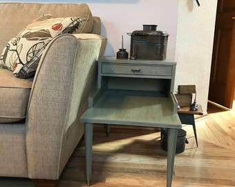 2 Tiered End Table Unique One Of A Kind