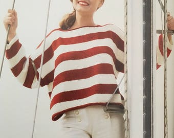 PDF Knit Easy Striped Pullover (EASY)