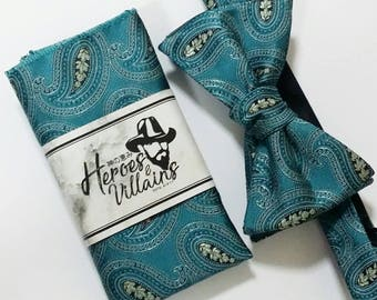 Turquoise blue self tie bow tie,bowties,blue bow ties, teal bow tie, groomsmen bow tie, floral ties, wedding bow tie,wool ties,floral tie