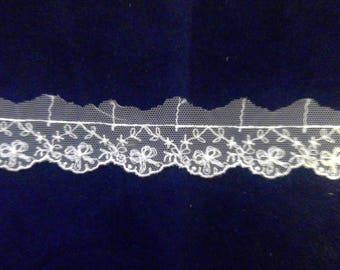 White vintage look lace trim