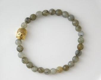 BUDDHA bracelet labradorite