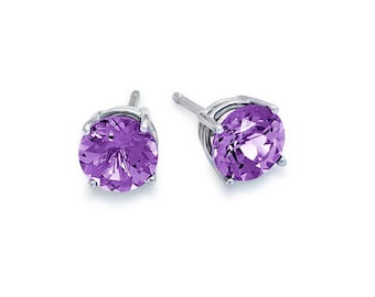2-CTW Amethyst  stud earrings made with Swarovski Elements