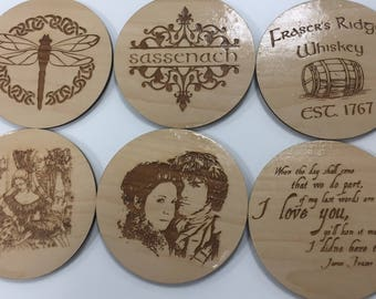 Outlander Coasters - Laser Cut Linden Wood