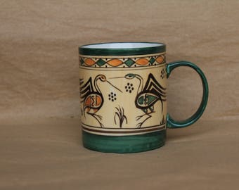 Coffee Mug in Birds Pattern
