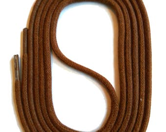 SNORS - laces - round LACES natural Brown, 3 lengths, diameter approx. 2-3 mm