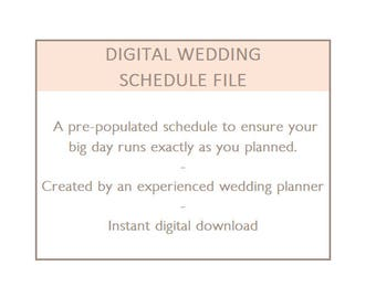 wedding day timeline template