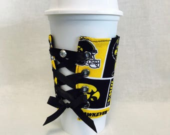 Coffee Cup Sleeve (Hawkeyes)