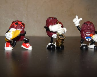 Vintage set of 3 California Raisins