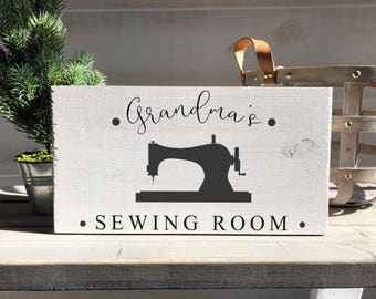 grandma gift-grandma sewing room sign-farmhouse-grandmother gift-mother gift-grandma-grandma's sewing room-wood sign-custom sign-sewing