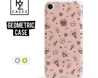 Diamonds Phone Case, iPhone 7 Case, Geometric Case, All seeing eyes, Crown Case, iPhone 6 Case, iPhone 7 Plus, iPhone 6 plus, Samsung Galaxy