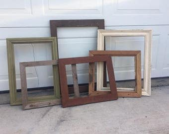 Rustic frames, Barn Wood, Wedding ,Frame sets, Six to  eight Frames mismatched,Photography,  Fixer upperi