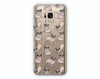 Pug case Samsung S7 case Samsung S8 case Samsung S8 Plus case Dog case Cute case funny case Samsung S6 case Samsung S6 Edge case Samsung