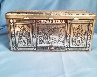Chivas Regal 12-Year Scotch Collectors Tin, Vintage