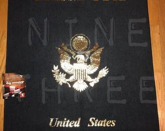 Navy Blue Passport Rug: United States of America