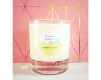 Thai Lime & Mango Soy Wax Natural Candle