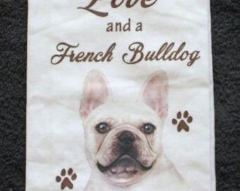 French Bulldog Dog Breed Cotton Kitchen Dish Towel