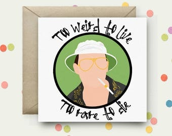 Fear and Loathing Square Pop Art Card & Envelope