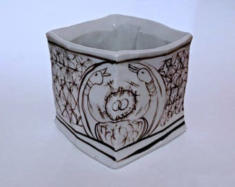 Square double headed swan Cup