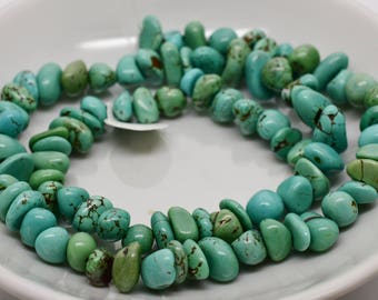 8-10mm Turquoise Bead Strand 16""