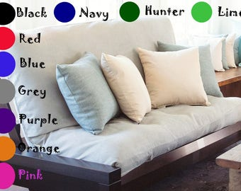 Handmade Futon Cover Solid Color Full Size (54x 75 in)