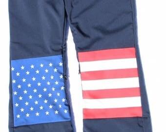 US Flag Snow Pants
