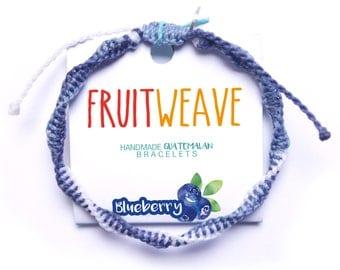 BLUEBERRY DNA BRACELET, Guatemalan Bracelets, Handmade bracelets, colorful bracelets, fruit based, fruit weave, friendship bracelets.