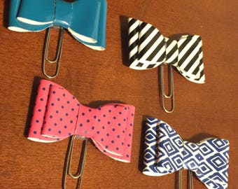 Bow Planner Clips; Page Marker; Journal Clip; for Traveler's Notebooks, Happy Planner, Erin Condren