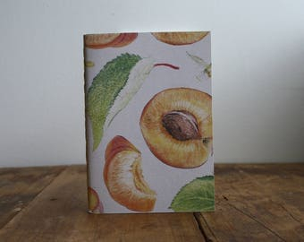 Hand-bound A6 Notebook - Apricot