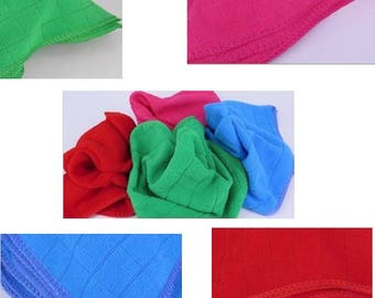 10 Pack Microfibre Cleaning Cloths Rib Textured - Various Colours 30 x 30cm
