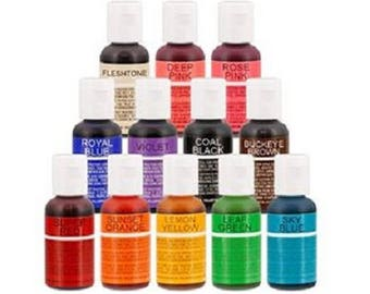 Chefmaster Liqua-gel 20g (0.7 oz) soft gel paste - range of colours