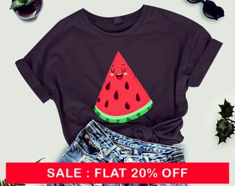 Watermelon tshirt unisex - cute shirt for women - food tshirt - funny shirt - funny tshirt - tees and tops - graphic tshirt - t-shirt