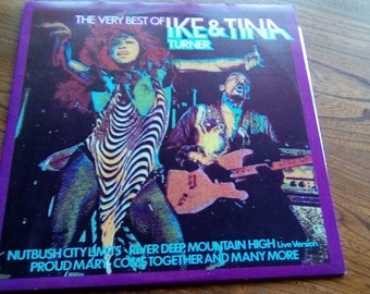 The Very Best Of Ike and Tina Turner Vinyl Lp United Artists  UAJ(V)1038 circa 70,s