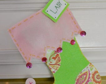 """Personalized Pet Christmas Stocking - """"The Paisley"""""""
