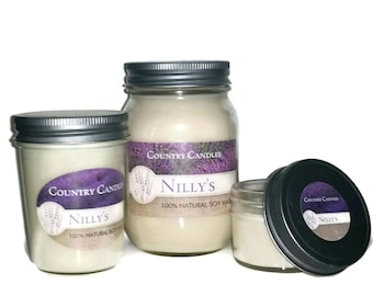 Vegan Hand-poured 100% Soy Wax Candle Set of 3 CLEAN/FRESH SCENTS in 3 Sizes