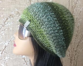 Green Colorful hat/ Multicolor hat/Crochet hat/ Handmade hat/Green Crochet-hat /Crochet hat /Crochet /Handmade Green hat