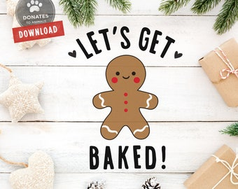 Funny Holiday Cut File | Funny Christmas SVG | Lets Get Baked SVG | Lets Get Lit Cut File | Funny Holiday SVG | Clipart Dxf Cut File Cricut