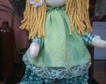 Handmade doll with blondy hair