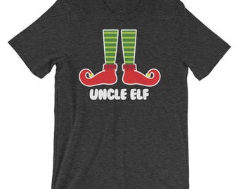 Uncle Elf Family Portrait Christmas Picture Greeting Cards