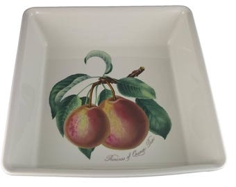 Pomona Pear Square Deep Dish from Portmeirion