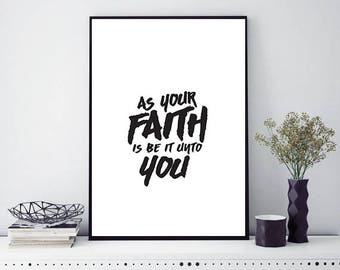 Faith typographic Poster READY TO DOWNLOAD