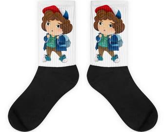 Stranger things socks, Stranger things gift, Stranger things Dustin gift, Dustin socks, Dustin shirt, Stranger things, Dustin present