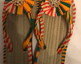 African women's slippers