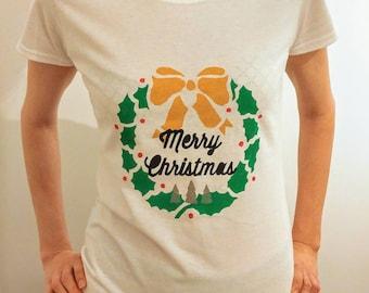 Merry Christmas print t-shirt