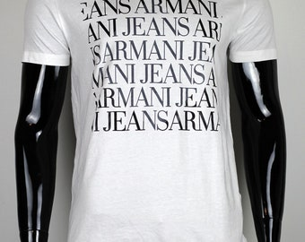 New Armani Jeans White T-Shirt Size 2XL