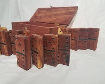 Handcrafted Cedar Domino Set
