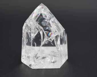 Fire And Ice Polished Quartz point
