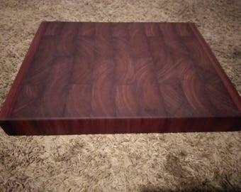 Custom Purple heart hardwood end grain butcher block cutting board thanksgiving Christmas gift