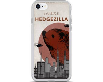Hedgezilla Hedgehog Kaiju Humor iPhone Case For Hedgehog Fan