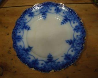 "Myott Flow Blue 10"" Plate - Made in England"