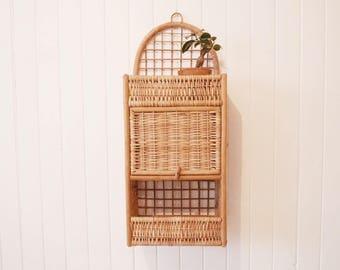 Rattan and wicker - Wicker and rattan wall shelf wall shelf